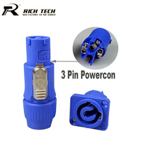 5 Sets 3 Pin Powercon Power Connector Male+Female Powercon Type A NAC3FCA+NAC3MPA-1 Chassis Panel Mount 3 Pin Speakon Connector