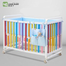 coolbaby Collapsible crib Game bed Crib Aluminum crib Adjustable Children's bed(China)
