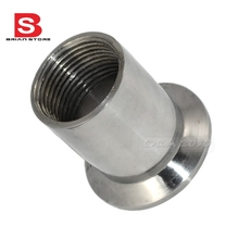 Sanitary Female Threaded Ferrule Pipe Fittings Tri-Clamp Type Stainless Steel SS304(China)