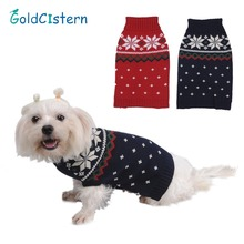Pet Dog Cat Warm Clothes Sweaters Snow Design For Doggy Christmas Festive Apparel Sweater For Puppy Kitten Clothes for Dogs Cats