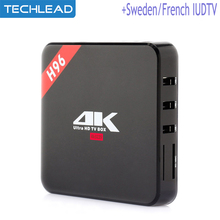 H96 Android 6.0 Arabic IPTV box quad core + Swedish Italian French European subscription Dutch Germany list Russian UK English(China)