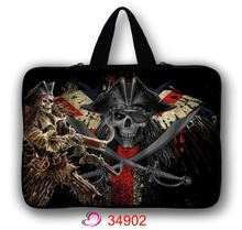 New Skull Neoprene 7.9/ 10/ 11/ 12 /13 14/ 15/ 17 Inch Laptop Sleeve Bag Handle Bag Netbook Inner Pouch Computer PC bag(China)