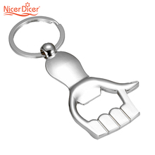 Thumb Up Hand Keychain shaped Bottle Opener zinc alloy Silver Color Key Ring Beer Bottle Opener Unique Creative Gift(China)