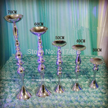 70 cm tall ,sliver iron Decorative flower vase wedding table centerpieces