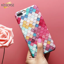 KISSCASE Colorful Grid Case For Apple iPhone 7 7 Plus 6 6S 5S 5 Mermaid 3D Girly Cover For Xiaomi mi5 For Samsung A5 S7 S7 Edge
