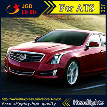 Free shipping ! Car styling LED HID Rio LED headlights Head Lamp case for Cadillac ATS ATSL Bi-Xenon Lens low beam