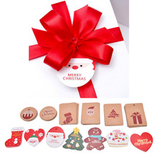 packing tags 10pcs/lot New Korea style cute Santa Claus tags Christmas drop cards christmas gifts greeting cards decoration(China)