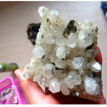 Rare crystal clusters of copper iron specimens of feng shui natural stone material and mineral free shipping(China)