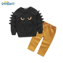 LONSANT Brands Newborn Baby Boys Clothes 2017 Cute Eyes Long Sleeve T-Shirt Pants Sports Suit Clothing Set 1-6 Y Dropshipping