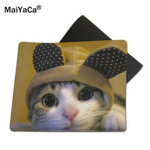 MaiYaCa Animals Big Eyes Cats Best Game Custom Mousepads Rubber Pad 18*22cm and 25*29cm Mouse Mats(China)