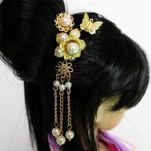 [wamami] 699# OOAK Chinese Ancient Bead Flower Flower Hairpin 1/3 1/4SD AOD BJD Dollfie(China)