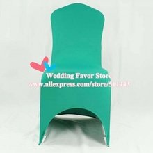 100pcs Extra Thick Tiffany Green Elastic Lycra Wedding Chair Covers Stretch Spandex Chair Covers For Hotel Banquet Decoration