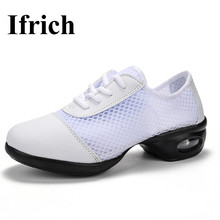 Ifrich Square Dance Shoes For Women Summer Cheap Woman Dance Jazz Shoes Dance Breathable Ladies Sneakers Shoes Dancing