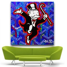 Alec Monopoly Wall Street Art Canvas Print POP ART Giclee Poster Print On Canvas For Wall Painting Graffiti Artists No Framed