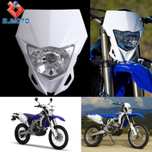 Universal Motorcycle Headlights Supermoto Headlight Fairing For Yamaha/ Honda /Kawasaki Motocross Dirt Bikes Off Road(China)
