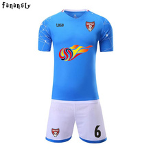 Custom Football Uniforms Men Breathable Cheap College Soccer Uniforms Training Suits DIY Soccer Jerseys 2017 New(China)