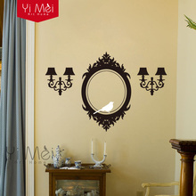 Wall Decals Frame and Sconces Elegant Accents - Vinyl Wall Stickers Art Home Decoration Wallpaper 60cmX90cm Free Shipping
