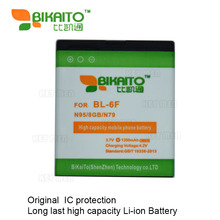 5pcs Good Quality Original BL-6F battery for nokia BL 6F 6788 N78 N79 N95 8GB mobile phone free shipping