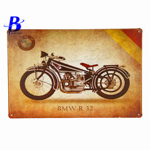 Custom Neon Sign BMW R 25 Vintage Metal Tin Signs Retro Tin Plate Sign Wall Decoration for Cafe Bar and Restaurant Regle