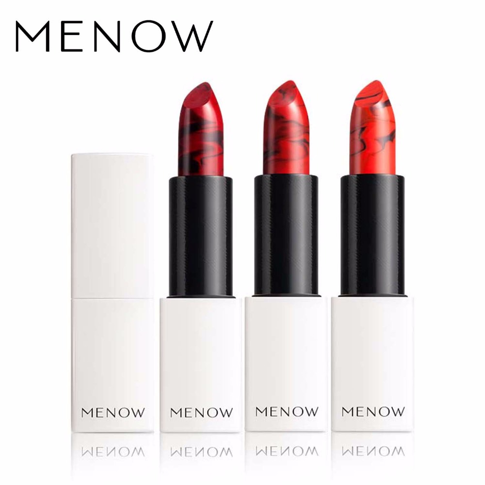 MENOW Brand Make up Sexy Color Lipstick Moisturizing Lock Color All day Lasting Lip Cosmetic Whole sale drop ship Beauty  L1703<br>