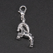 Thomas Style Silver Color Capricorn Star Sign Constellation Lucky Charm for Bracelet & Choker Trendy Men and Women Jewelry