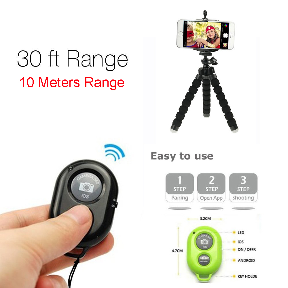 image for Bluetooth Phone Self Timer Shutter Button For IPhone 7 Selfie Stick Sh