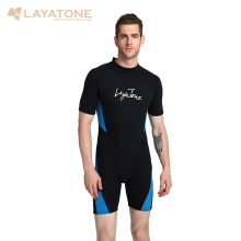 Cheap 3mm neoprene shorty men triatlon wetsuit swimsuit Plus Size mens black swimwear swimming surfing suit rash guard B1619(China)