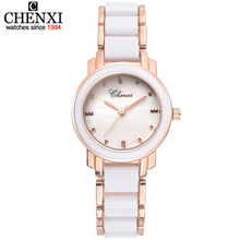 Buy CHENXI Women's watches New Style White Ceramic Quartz Wristwatch Luxury Brand Fashion Ladies Watch Women Quartz-Watch Colck for $19.60 in AliExpress store