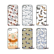 For Xiaomi Redmi Note 2 3 3S 4 Pro Mi3 Mi4i Mi4C Mi5S MAX iPod Touch 4 5 6 Cute Dachshund Silhouette Dog Pattern Art Phone Case