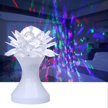 15W White Lotus Shape Rotating Lights AC 85V-260V RGB LED Colorful Decorative Lights Party/Bar/Disco Atmosphere Lights Lamp UC#