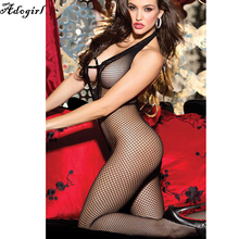 Buy Hot Women Stretch Fishnet Bodysuits Halter Bodystocking Sexy Exotic Apparel Lingeries Nightwear Fetish Body Mesh body Teddies