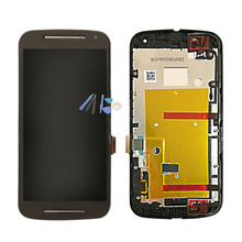 For MOTO G2 G 2 2nd Gen XT1063 XT1064 XT1068 XT1069 LCD Display Digitizer Touch Screen Panel With Frame Assembly(China)