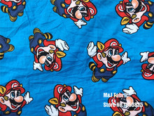 50*165cm Super Mario Bros knitted cotton fabric For Sewing diy Patchwork baby BOY Children shirt clothes Bedding