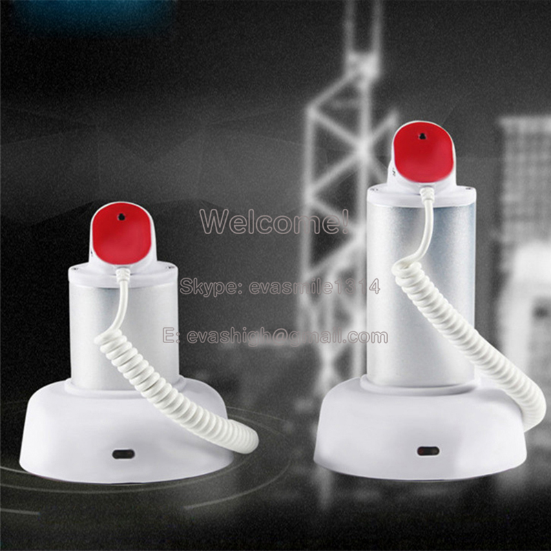 5xMobile cell phone tablet security stand display system alarm holder burglar white with cable and lock<br>
