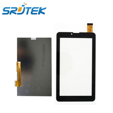 "SRJTEK 7"" inch for Oysters T72HM 3G LCD Screen Touch Screen Digitizer Glass Panel Sensor Replacement Parts Black White"