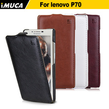 IMUCA P70 Luxury Leather Flip Cases For Lenovo P70 P70t p70a P 70 Mobile phone cases accessories Cover with Tempred glass(China)