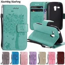 For Coque Samsung Galaxy S3 Mini Case Leather Wallet & Silicone Phone Case Samsung Galaxy S3 Mini Cover Cat Tree Flip Case Capa(China)