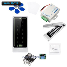 HOMSECUR Waterproof Touch Keypad IC Access Control System+Waterproof 180KG Magnetic Lock