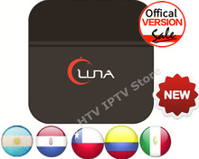 LUNA BOX Latino Spainish Internet IPTV Box South American Live Spainish TV HD Streaming Box for Mexico/Argentina/Peru/Chile