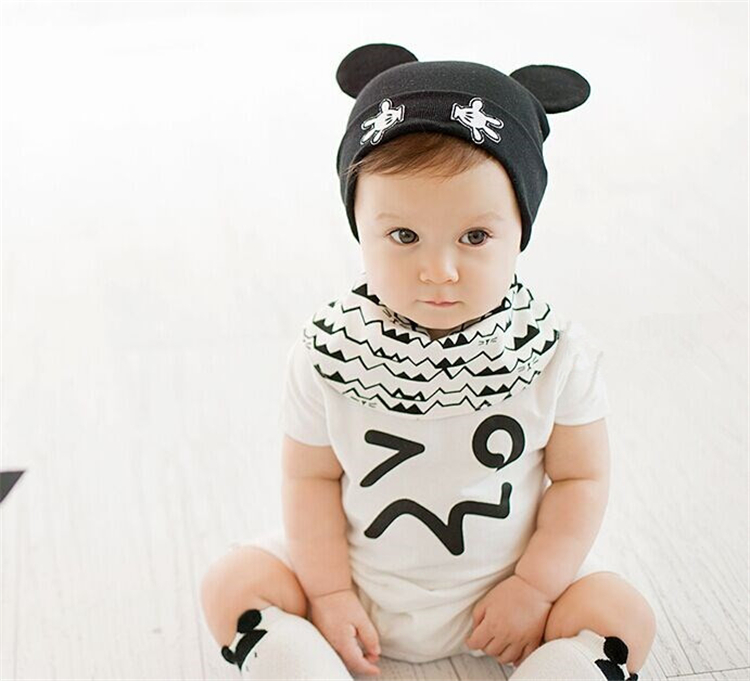 Hot Sale baby Mickey Hats Infant baby Spring Autumn Cartoon Beanie Baby Cotton Hat Beanie Boy Girl Hat Caps 5 colors(China (Mainland))