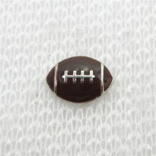 Hot selling 20pcs/lot  Rugby Football Floating Charms Living Glass Memory Floating Lockets DIY Jewelry Charms