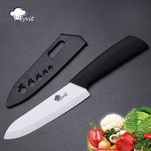 High Quality Ceramic Knife Cooking Tools Single 3 4 5 6 inch White Blade 5 Color Handle Ceramic Paring kitchen Knives(China)