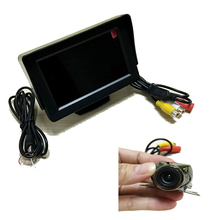 New 4.3 inch Digital TFT LCD Car Video Monitor Camera + Car Rear View Reverse Backing CMOS Camera free shipping
