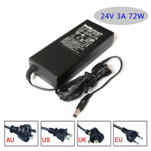 24V 3A 72W switching power supply AC/DC adapter Table type EU/USA/AU/UK plug available, please let us know when ordering.