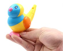 Bird sound whistle toy one pcs random color bathing game whistling(China)