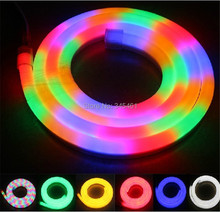 100Meter/roll Energy Saving Led Flexible Tube Neon Light  80 Led Beads/M Multi color Rainbow tube High quality led flexible rope