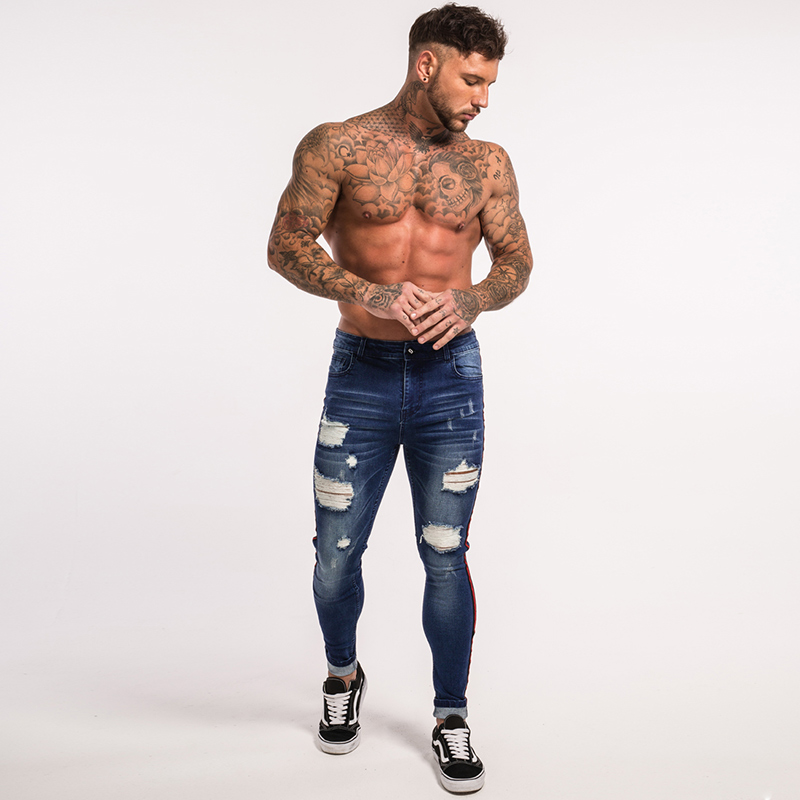 gingtto-mens-skinny-jeans-dark-blue-ripped-repaired-red-stripe-jeans-streetwear-zm21-8