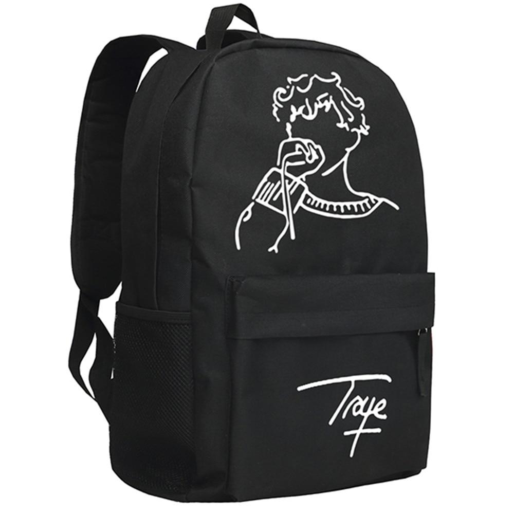 Singer Actor Troye Sivan Backpack Khaki Color School Bag for Children Bookbag<br>