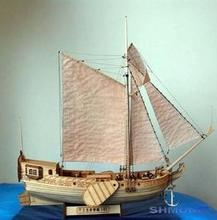 LOVE MODEL Free shipping Hobby Wooden Ship Model 3d Laser Cut Scale 1/80 Royal Netherlands Yacht English manuals(China)