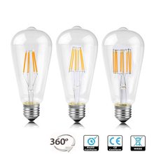 8W 12W 16W Antique Retro LED Edison Bulb ST64 E27 LED Bulb Filament Light AC220-240V Glass Bulb Lamp Candle Light Lamp(China)